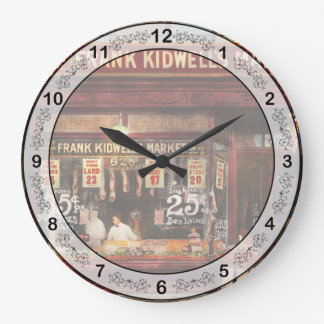 Relógio Grande Carniceiro - a carne fixou o preço certo de 1916