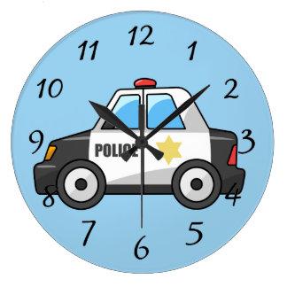 Relógio Grande Carro de polícia animado