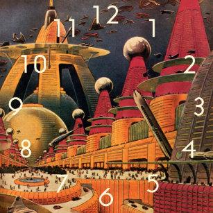 a3dd2d5ff60 Relógio Grande Carro futurista do vôo da cidade da ficção
