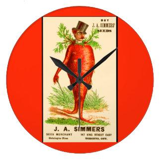 Relógio Grande cartão do comércio do Victorian do homem da