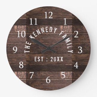 Relógio Grande Casa da quinta de madeira rústica do nome de