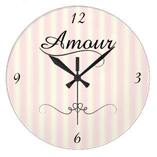 Relógio Grande Caso amoroso retro francês
