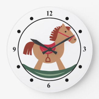 Relógio Grande Cavalo de balanço festivo