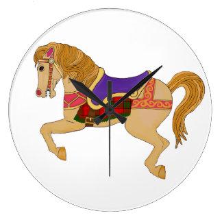 Relógio Grande cavalo do carrossel
