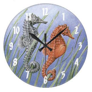 Relógio Grande Cavalos de mar
