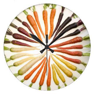 Relógio Grande Cenouras coloridas
