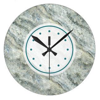 Relógio Grande Cerceta bonita pedra de mármore colorida
