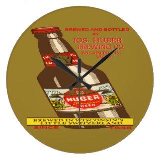 Relógio Grande Cerveja de Huber