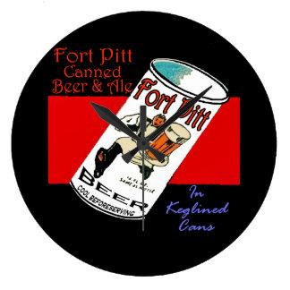 Relógio Grande Cerveja de Pitt do forte