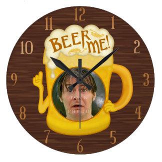 Relógio Grande Cerveja engraçada mim foto personalizada | do