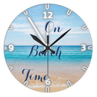 Relógio Grande Céu do oceano da areia, praia
