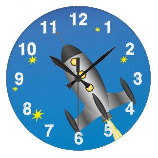 Relógio Grande Céu estrelado de Rocketship