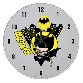 Relógio Grande Chibi Batman que escala a cidade