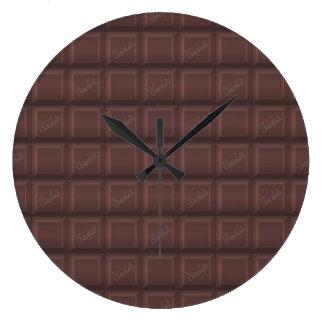 Relógio Grande Chocolate de leite