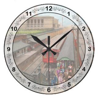 Relógio Grande Cidade - Chicago - a estação 1907 da rua de Van