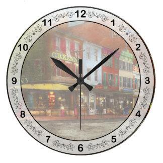Relógio Grande Cidade - Washington DC - vida na 7a rua 1912