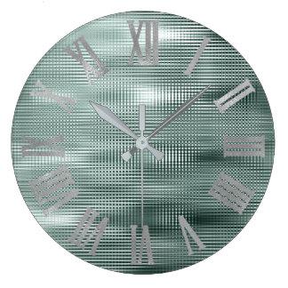 Relógio Grande Cinzas de prata Numers romano metálico mínimo da
