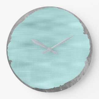 Relógio Grande Cinzas de prata Tiffany do metal nao perfeito do