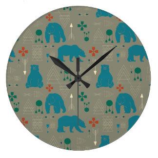 Relógio Grande cinzas tribais do urso