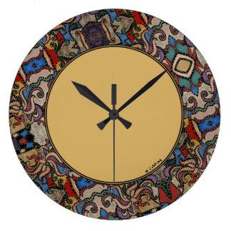 Relógio Grande Círculo abstrato moderno
