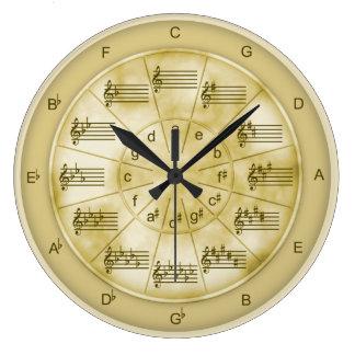 Relógio Grande Círculo do mármore de Tan dos quintos para músicos