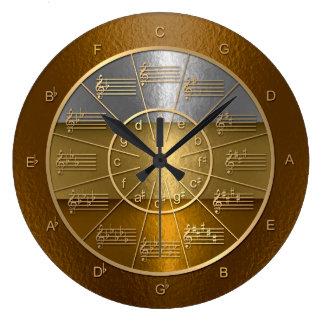 Relógio Grande Círculo dos quintos para os músicos que brilham
