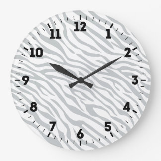 Relógio Grande Clique mágico das listras da zebra para
