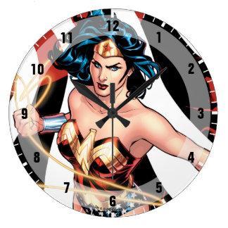 Relógio Grande Cobrir cómico #12 da mulher maravilha