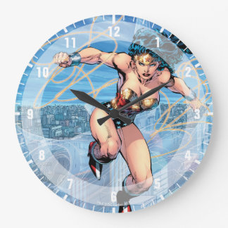 Relógio Grande Cobrir cómico #16 da trindade da mulher maravilha