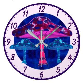 Relógio Grande Cogumelos mágicos