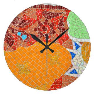 Relógio Grande col quebrado faience do quebra-cabeça da pedra de