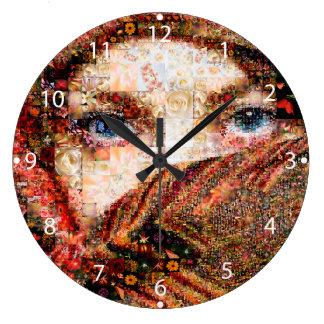 Relógio Grande Colagem-olho-menina beduína do menina-olho do