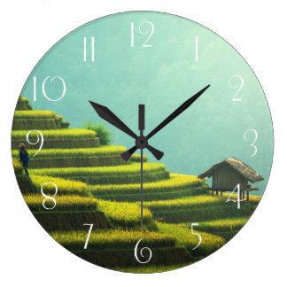 Relógio Grande Colheita do arroz da agricultura de China
