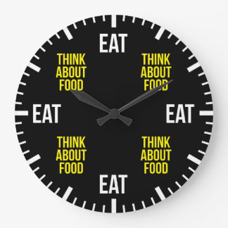 Relógio Grande Coma e pense sobre a comida - engraçada