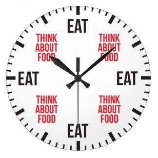 Relógio Grande Coma e pense sobre a comida - novidade engraçada