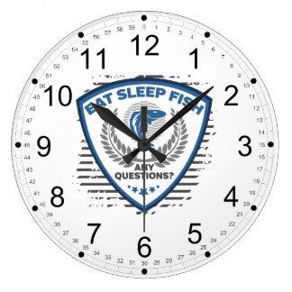 Relógio Grande Coma peixes do sono toda a pesca das perguntas