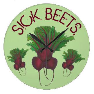 Relógio Grande Comida engraçada do vegetariano doente da