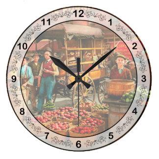 Relógio Grande Comida - vegetais - mercado 1908 de Indianapolis