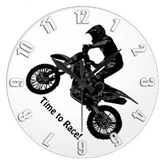 Relógio Grande competência da Sujeira-bicicleta