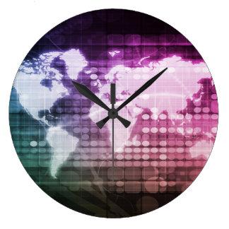 Relógio Grande Conexão de rede global e sistema integrado