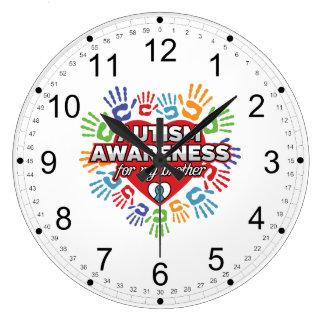 Relógio Grande Consciência do autismo para meu irmão