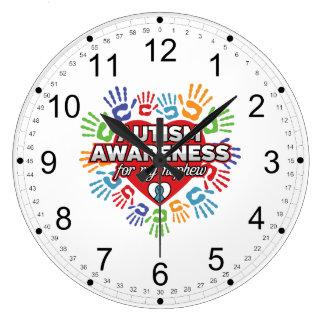 Relógio Grande Consciência do autismo para meu sobrinho