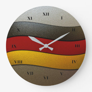 Relógio Grande Cor-Cromo da bandeira de Alemanha por Shirley