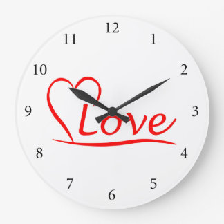 Relógio Grande Coração com amor