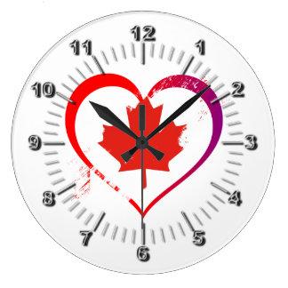 Relógio Grande Coração de Canadá