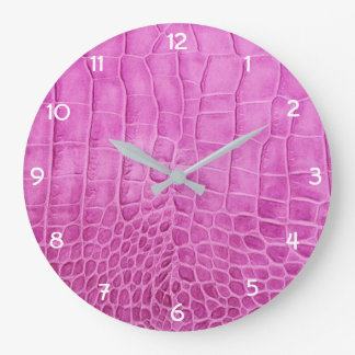 Relógio Grande Couro do falso do rosa quente