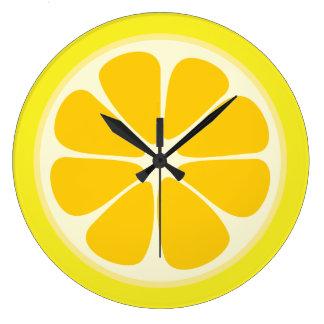 Relógio Grande Cozinha suculenta da fatia da fruta tropical do