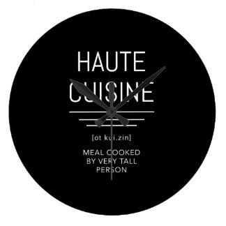 Relógio Grande Cozinheiro chefe francês engraçado da culinária de