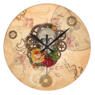 Relógio Grande Crânio de Steampunk
