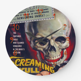 Relógio Grande Crânio gritando